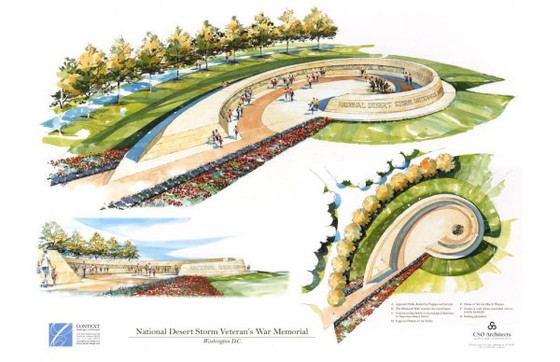 National Desert Storm War Memorial Association Receives Concept Approval of Design