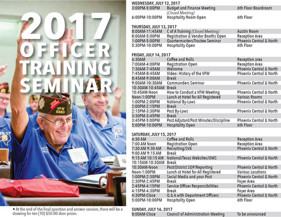 Texas VFW 2017 Officer Training Seminar