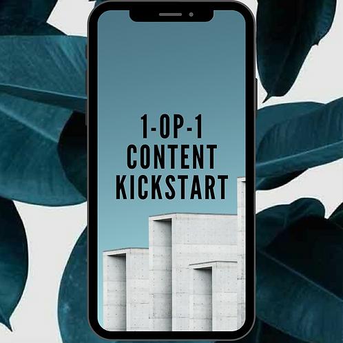 1-op-1 content kickstart