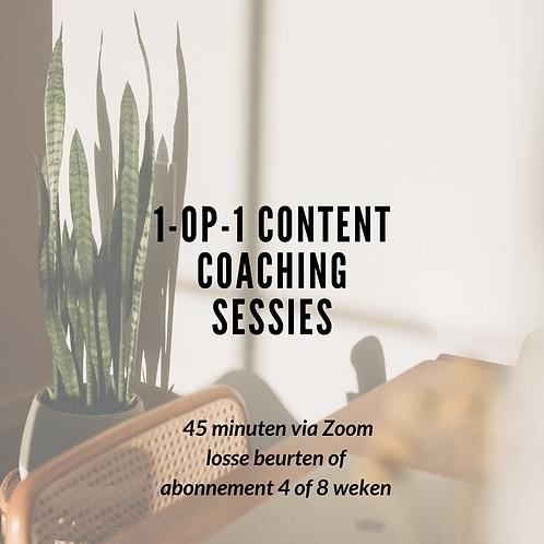 1-op-1 content coaching sessie