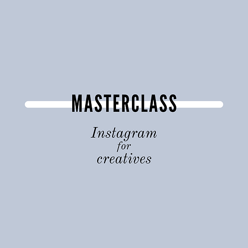 MASTERCLASS Instagram for creatives