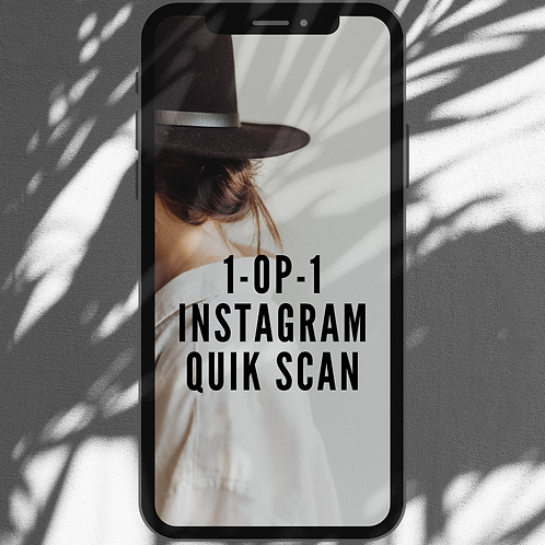 1-op-1 Instagram quick scan via ZOOM