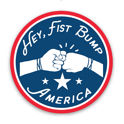 Fist Bump America Sticker