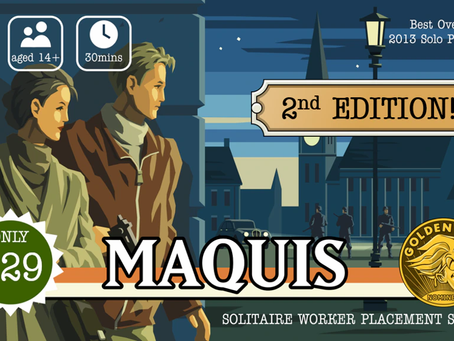 Maquis is live (Maquis returns with a 2nd edition)