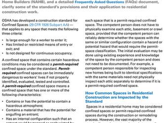 OSHA Updates