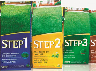 Save on the Scotts 4 Step program with mail in rebates