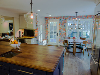 Custom Island Counter Top Adds Beautiful Touch To Kitchen Remodel