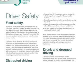 Safety Tips - Driver Safety