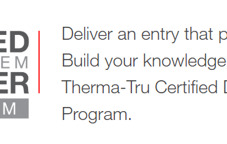 Become a Certified Therma-Tru Installer!