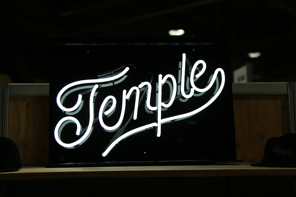 New Temple Cursive Neon sign