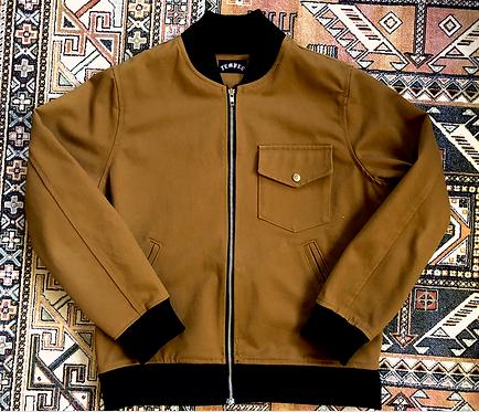 Tan Canvas 'Doberman' Bomber Jacket