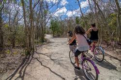 Fahradtour in der Cenote Xcanche