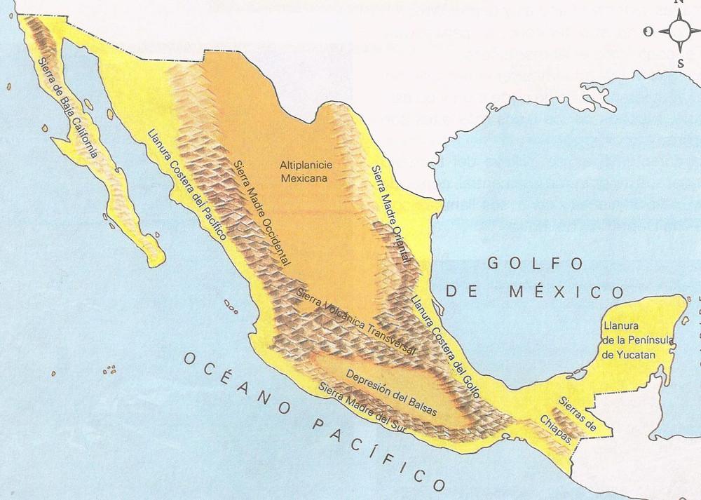 Bergketten in Mexiko