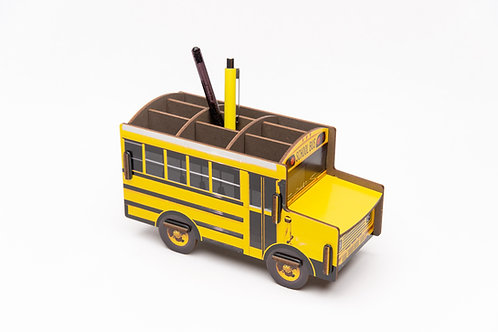 Stifteköcher Schulbus