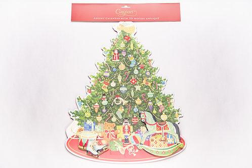 Adventkalender Baum mit Engerl