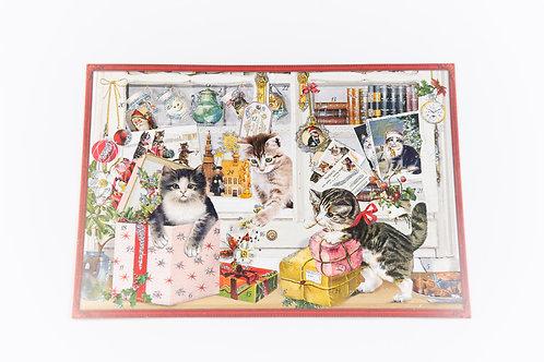 Adventkalender A4 Katzen