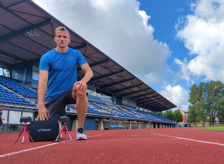 Jānis Leitis about xTimer in long jump and 400m sprints
