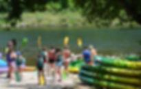 Départ des canoes a Broquies