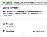 Secure Connection Cookie Example
