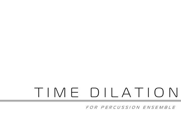 Time Dilation (PDF, score & parts)