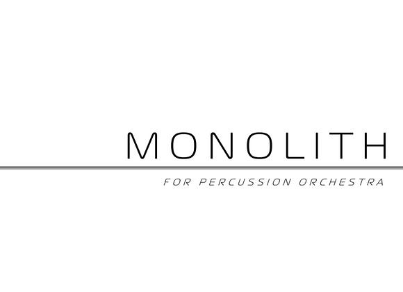 Monolith (PDF, score & parts)