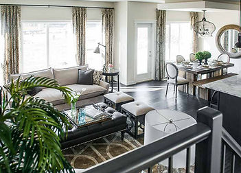 Show home great room and dining in Timber Ridge