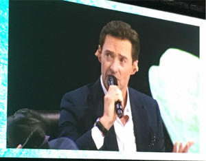 Hugh Jackman at the doTERRA Global Dream Convention 2018 about doTERRA's co-impact sourcing and non-profit activities as well as the way he does business at his own Laughing Man Coffee Company.
