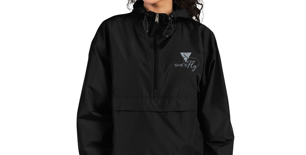 She's Fly Unisex Embroidered Champion Packable Jacket