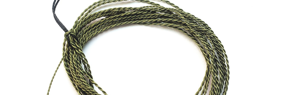 Furled and Tapered Tenkara Fly Line, Low-Vis