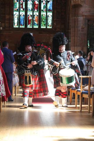 Pipes and Drums, Royal Stewart Tartan