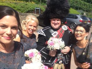 Crieff Hydro Wedding, Royal Strewart Tartan