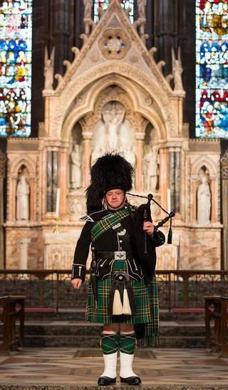 St. Margarets Cathedral Edinburgh. Irish National Tartan