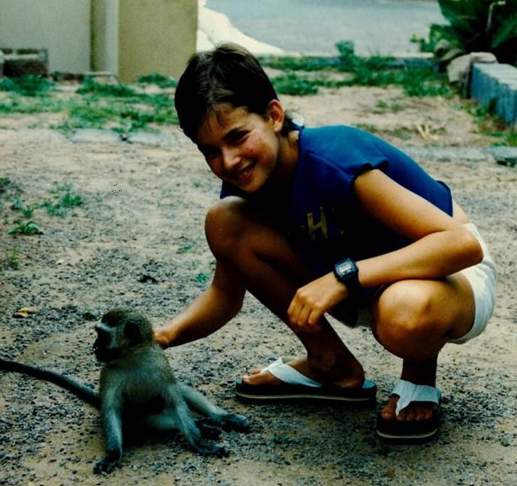 Liza with a monkey