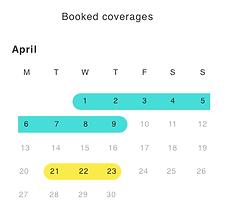 doctor schedule calendar