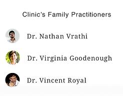 family doctors list
