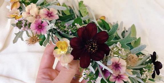 F R E S H floral crown