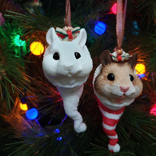 Paint a HAMSTER Christmas Tree Ornament