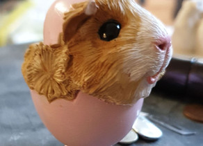 Guinea Pig in Easter Egg