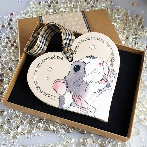 Pet Rat Heart Hanger