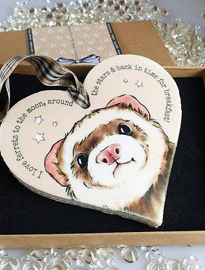 Ferret Heart Hanger