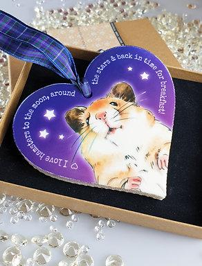 Hamster Heart Hanger Purple