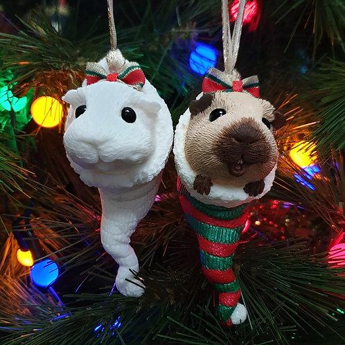 Paint a GUINEA PIG Christmas Tree Decoration