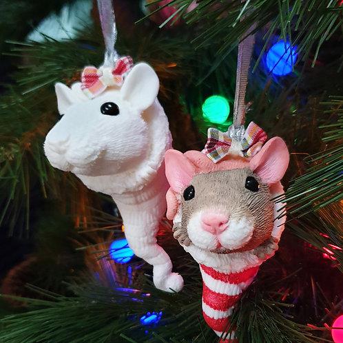 Paint a PET RAT Christmas Tree Ornament