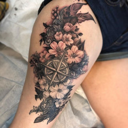 Cherry Blossoms and Compass