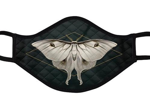 White Luna Moth Mask