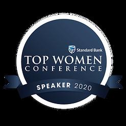 Top women Speaker badge 2020.png