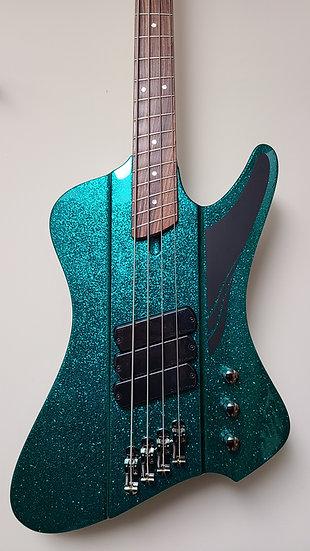 Dingwall D-Roc Standard 4-string - Gloss Metalflake Aquamarine