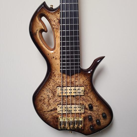 Divinity Guitar Works Buckeye Burl 5-string