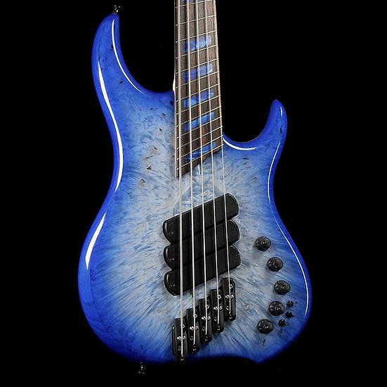 Dingwall Z3 - Burl Maple X-top with Blue Jean Burst finish