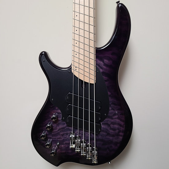 Dingwall LEFT-HANDED Combustion 3x 5-string w/Quilted Top, Amethyst Burst finish